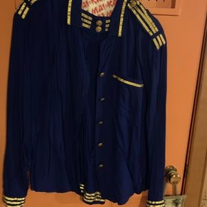 Other - Two piece royal blue and gold set